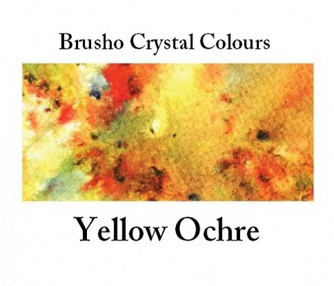 Brusho Crystal Colors -  Yellow Ochre 15g