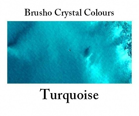 Brusho Crystal Colors -  Turquoise 15g