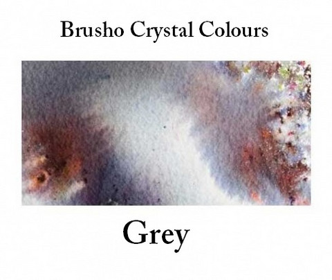 Brusho Crystal Colors -  Grey 15g
