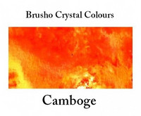 Brusho Crystal Colors -  Camboge 15g
