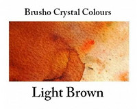 Brusho Crystal Colors -  Light Brown 15g