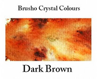 Brusho Crystal Colors -  Dark Brown 15g