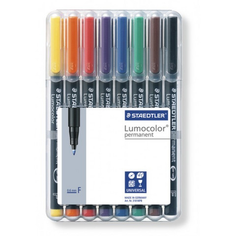 Lumocolor Permanent Markers Fine 0.6mm