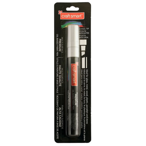 Chisel Tip Multi-Surface Premium Oil-Based Paint Pen: Metallic Silver
