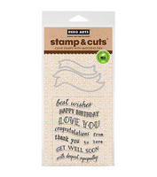 Stamp & Cut: Ribbon Messages -setti