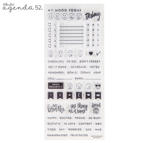 Agenda 52 Planner Stamps: Faces