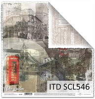 I Love London 2 12x12 - skräppipaperi