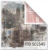 I Love Lodz 12x12 - skräppipaperi