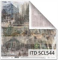 I Love Barcelona 12x12 - skräppipaperi
