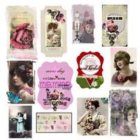 Rose Garden Klipark  12x12 skräppipaperiarkki