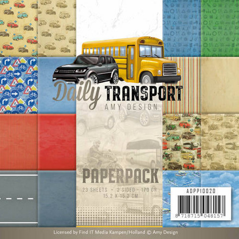 Amy Design: Daily Transport 6x6 - paperikokoelma