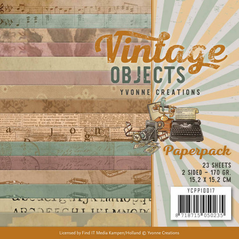 Yvonne Creations: Vintage Objects 6x6 - paperikokoelma