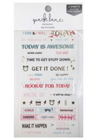 Park Lane Paperie Washi Stickers: Goal Quotes