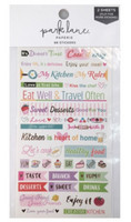 Park Lane Paperie Washi Stickers: Food Quotes