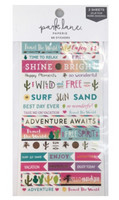 Park Lane Paperie Washi Stickers: Tropical Quotes