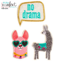 Flea Market Fancy Patch Stickers: Llama