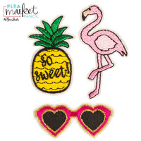 Flea Market Fancy Patch Stickers: Tropical