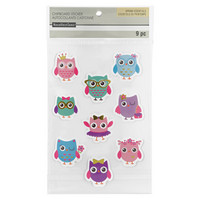 Chipboard Stickers: Cute Owls  -tarrapakkaus
