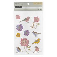 Chipboard Stickers: Floral Bird  -tarrapakkaus