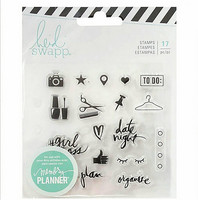 Heidi Swapp Planner Clear Stamps: Everyday - kirkas leimasinsetti