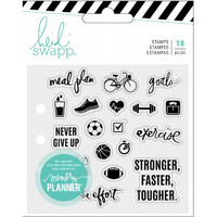 Heidi Swapp Planner Clear Stamps: Exercise - kirkas leimasinsetti