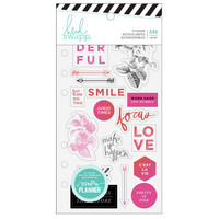Heidi Swapp - Fresh Start : Elegant Clear Stickers  -tarrakirja
