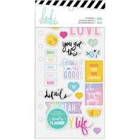 Heidi Swapp - Fresh Start : Playful Clear Stickers  -tarrakirja