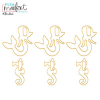 Flea Market Fancy Paperclips: Gold Mermaid & Seahorse