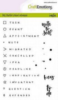 Bullet Journal: Signs and text A6 - kirkas leimasinsetti