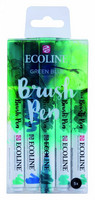 Ecoline Brush Pen x 5 : Green Blue - pakkaus
