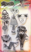 Dylusions A6 Clear Stamps: Mini Me - kirkas leimasinsetti