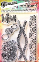 Dylusions A6 Clear Stamps: Anatomy of a Page - kirkas leimasinsetti