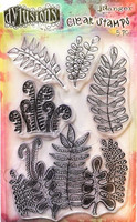 Dylusions A6 Clear Stamps: Oodles of Foliage - kirkas leimasinsetti