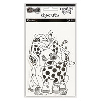 Dylusions Creative Dyary Dy-cuts: Black & White Animals