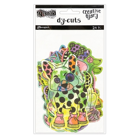Dylusions Creative Dyary Dy-cuts: Colored Animals