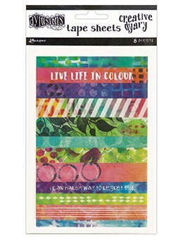 Dylusions Creative Dyary Tape Sheets - tarrapakkaus