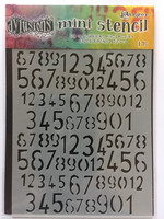 Dylusions Mini Stencil: Old School Numbers