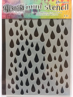 Dylusions Mini Stencil: Raindrops