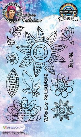 Mixed Media Rainbow Designs: Bloom A5 - kirkas leimasinsetti