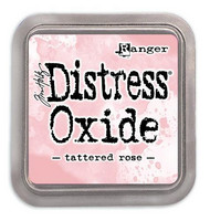 Distress Ink Oxide: Tattered Rose -mustetyyny