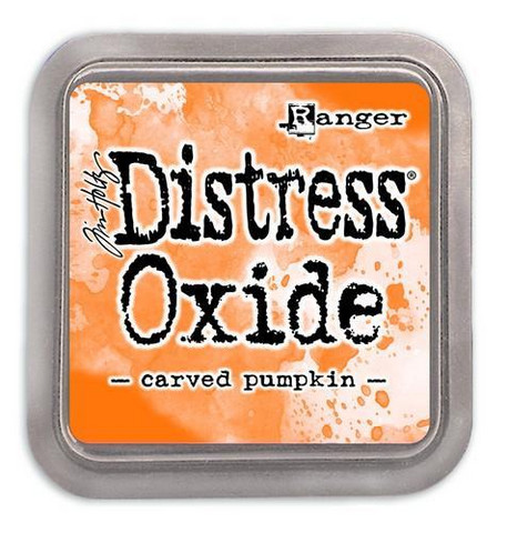 Distress Ink Oxide: Carved Pumpkin  -mustetyyny