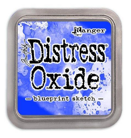 Distress Ink Oxide: Blueprint Sketch  -mustetyyny