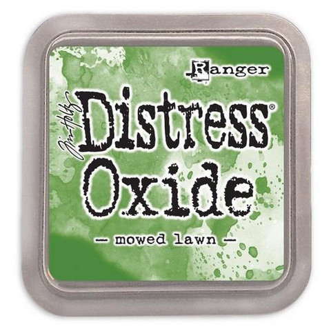 Distress Ink Oxide: Mowed Lawn  -mustetyyny