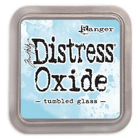 Distress Ink Oxide: Tumbled Glass  -mustetyyny