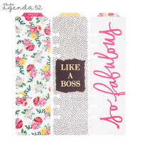 Petals & Blooms Tabbed Bookmarks