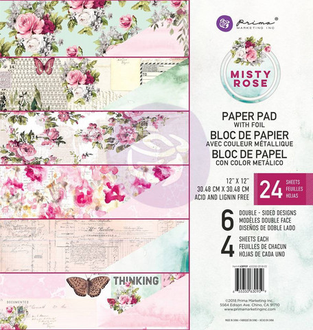 Prima Marketing: Misty Rose 12x12 paperikokoelma