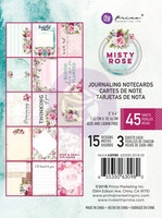 Prima Marketing: Misty Rose 3x4 Journaling Cards