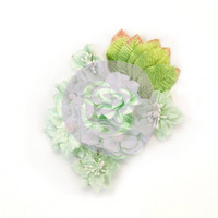 Prima Marketing Flower Embellishments: Santa Baby Frost Mint
