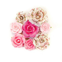 Prima Marketing Flower Embellishments: Misty Rose Olivia