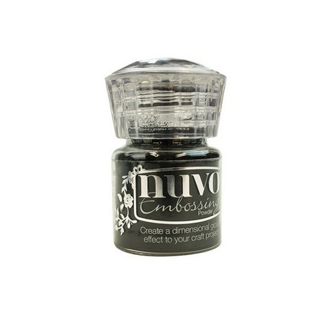 Nuvo Embossing Powder: Jet Black  22ml